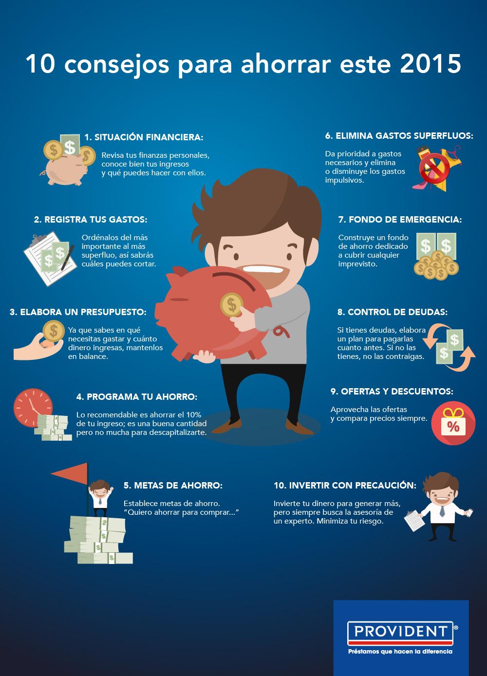 10 consejos para ahorrar este 2015 blog provident - Consejos para ahorrar dinero ...