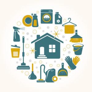 Tareas de la limpieza del hogar
